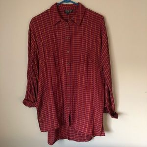Topshop Plaid oversized Shirt